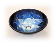 Handfat i glas, Glow Blue SS117