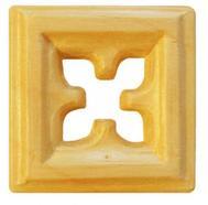 Träornament - Fyrkantig Rosett SOM25