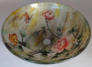 Handfat i glas, Vintage Rose SY189