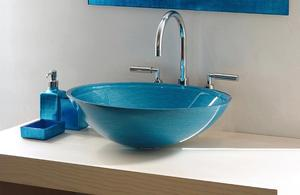 Handfat i glas, Turquoise ITA3