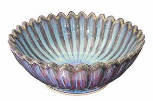 Handfat i porslin, Blå Lotus SC53