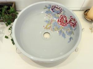 Handfat i porslin, China Rose SSY011 White/White