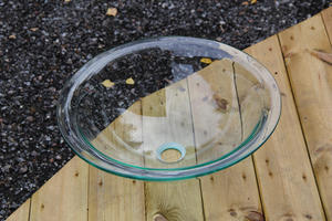 Handfat i glas, Transparent SY235