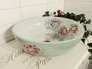 Handfat i porslin, China Rose SSY010 White/Green