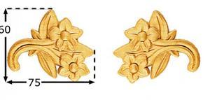 Träornament - Blomma SOMP33, par