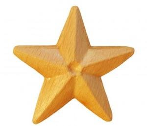 Träornament - Stjärna SRR96