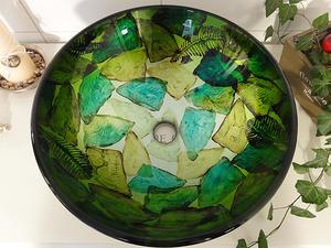 Handfat i glas, Glow Green SS116